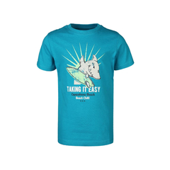 T-Shirt Haiprint GLOW IN THE DARK in türkis von Blue Seven