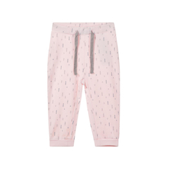 Baby organic cotton pants with print in rose by Name It