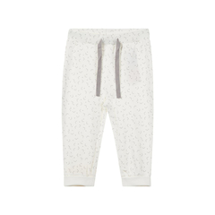 Baby organic cotton pants with print in white by Name It