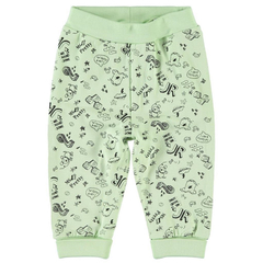 Unisex organic cotton trousers with allover print in...