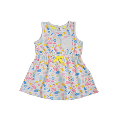 Kleid Flamingo in grau von Lemon Beret