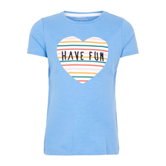 NAME IT T-Shirt FUN made of organic cotton in light blue