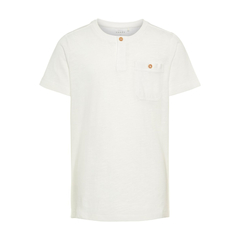 NAME IT boys T-Shirt with breast pocket in white