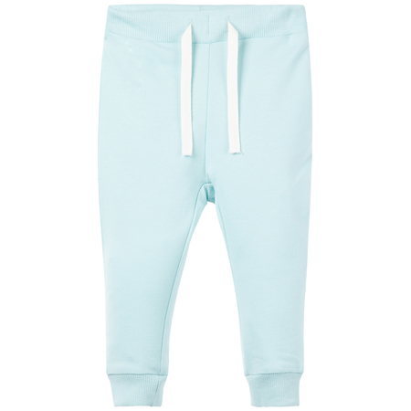 Name It Baby pants made of organic cotton in light blue