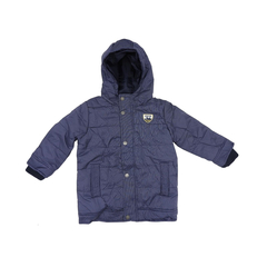 Boys quilted jacket blue by Lemon Beret